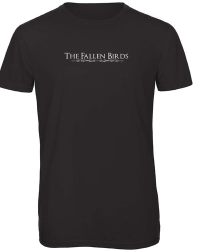 "T SHIRT HOMME NOIR ""THE FALLEN BIRDS"""