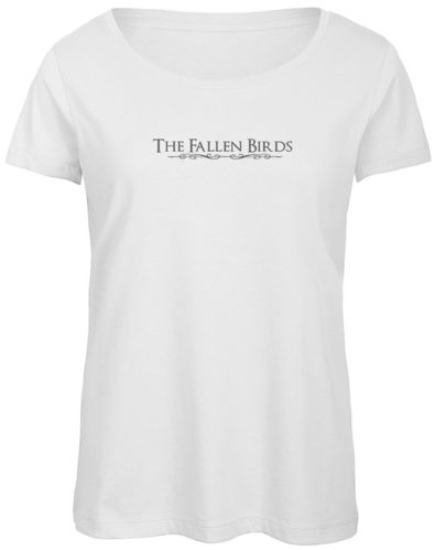 "T SHIRT FEMME BLANC ""THE FALLEN BIRDS"""