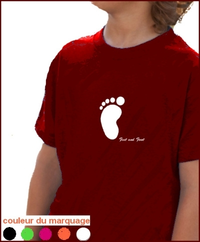 "T-SHIRT ENFANT ""PIED FEET AND FOOT"""
