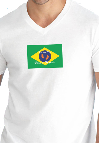 "T SHIRT ""COL V"" FEET AND FOOT BRAZIL !!!"